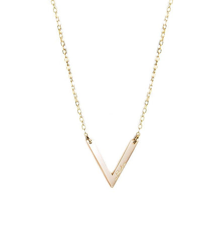 Balance Triangular Pendant Necklace