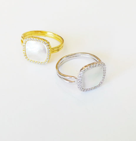 CZ Stacking Rings