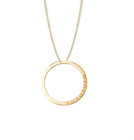 Hugs and Kisses Infinite Circle Necklace