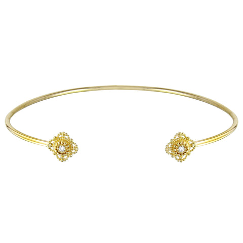 14k Gold & Diamond Bar Necklace