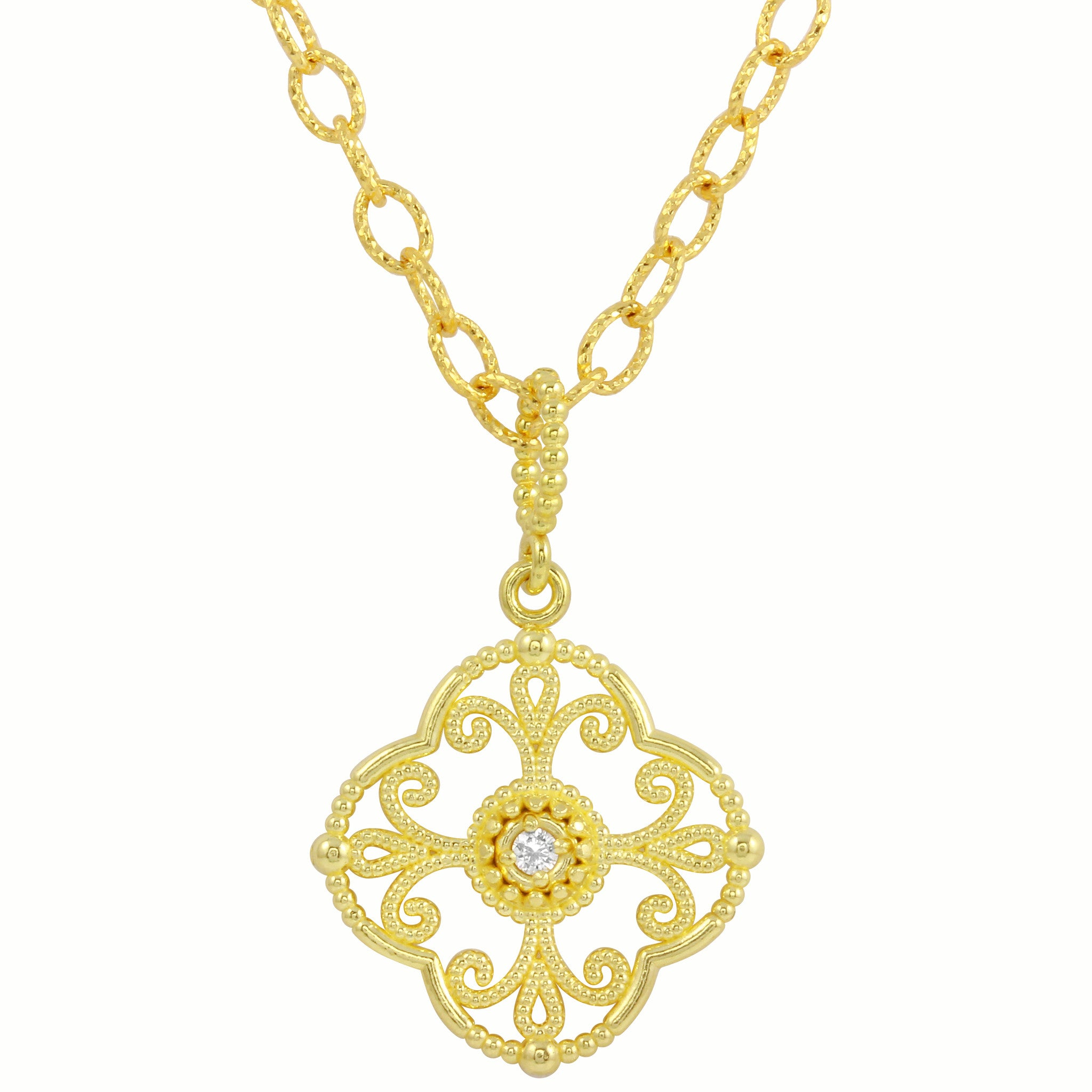 Amyn arabesque diamond filigree pendant necklace favery arabesque diamond filigree pendant necklace aloadofball Choice Image