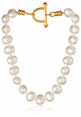 18k Gold & Pearl Equestrian Necklace