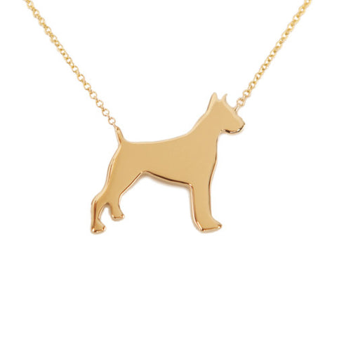 14k Gold Boxer Pendant Necklace
