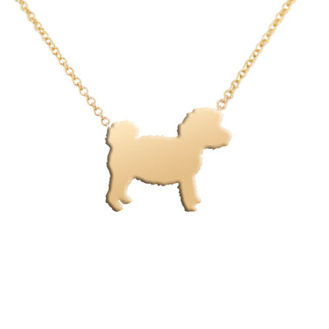 14k Gold Cockapoo Pendant Necklace