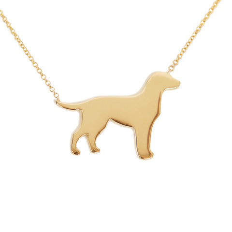 14k Gold Labrador Retriever Pendant Necklace