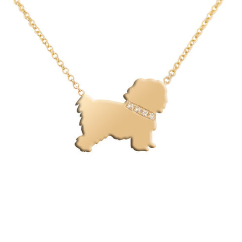 14k Gold & Diamond Maltese Pendant Necklace