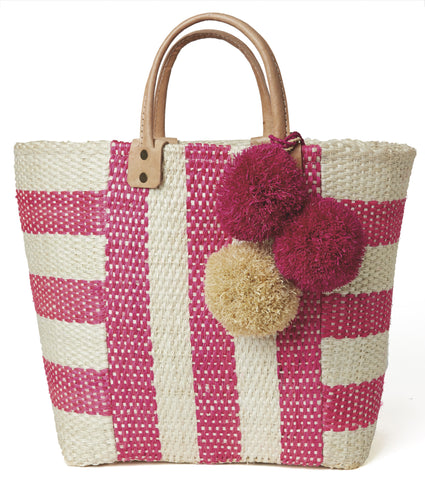 Pink Collins Tote Bag