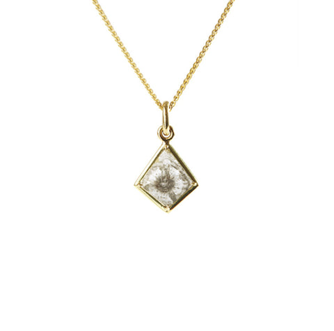 18k Gold & Diamond Kite Pendant Necklace