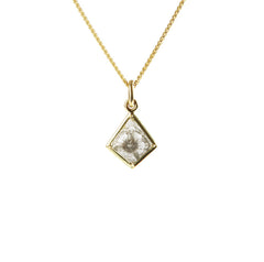 18k Gold Diamond Kite Pendant Necklace