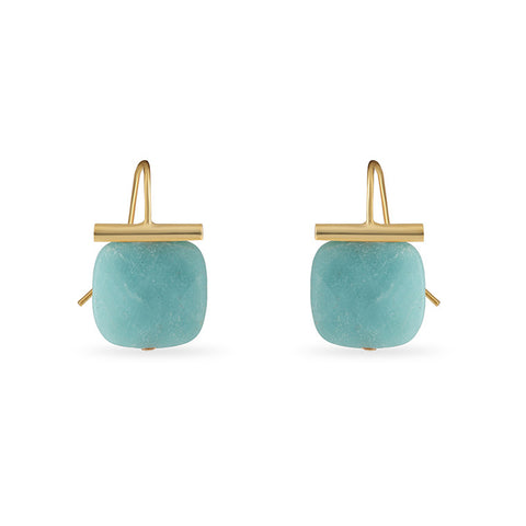 14k Gold Diamond Sundae Stud Earrings