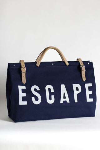 Navy Escape Canvas Utility Bag