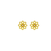 Fleur Diamond Stud Earrings