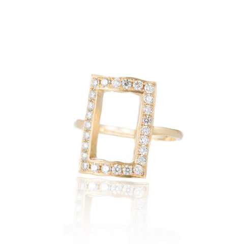 Indah Gold Chain Ring