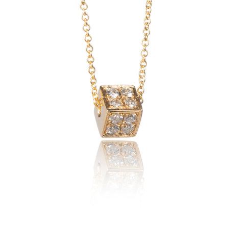 Triangle Diamond Pendant Necklace