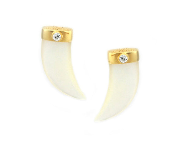 Pearl Shark Tooth Earrings
