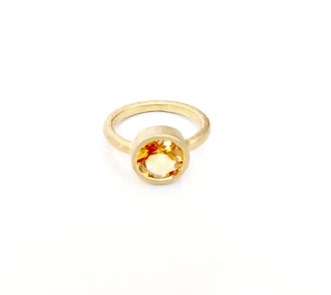 14k Gold & Diamond Organic Circle Ring