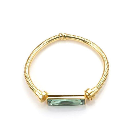 14k Gold Square Hinged Bracelet