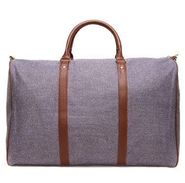 Gray Linen Weekend Bag