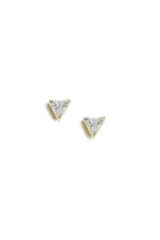 3-Stone Diamond Stud Earrings