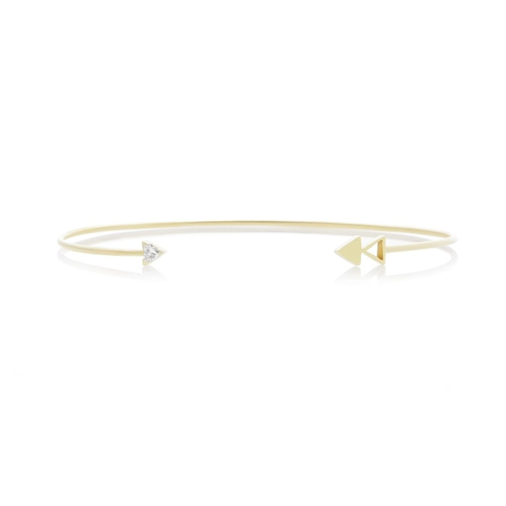 Triangle Diamond Open Cuff Bracelet