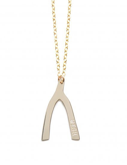 Miriam Merenfeld Lucky Wishbone Necklace