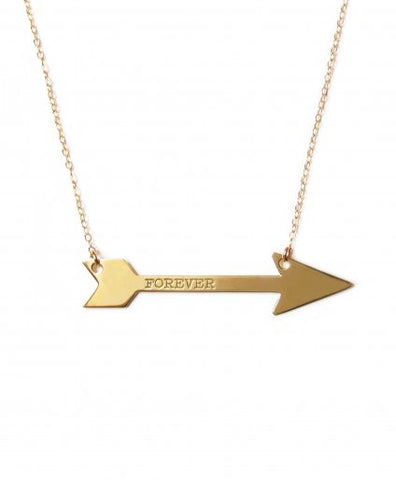 Miriam Merenfeld Large Horizontal Arrow Necklace