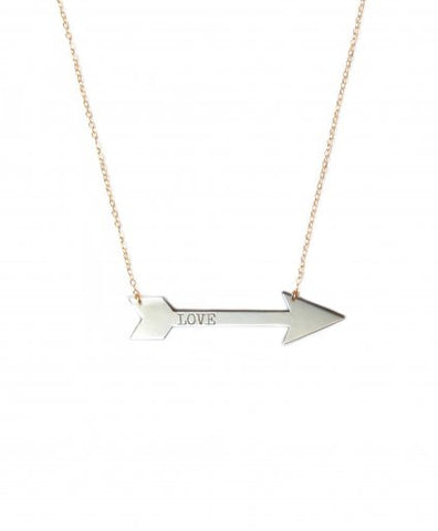 Medium Horizontal Arrow Inspirational Necklace