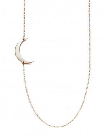 Miriam Merenfeld Floating Crescent Moon Necklace