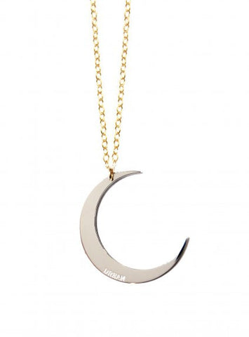 Crescent Moon Dream Inspirational Necklace