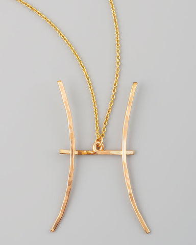 Gauge NYC Pisces Pendant Necklace