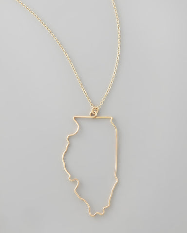 Gauge NYC Illinois Pendant Necklace
