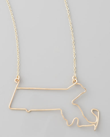 Gauge NYC Massachusetts Pendant Necklace