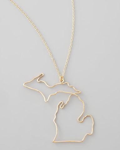 Gauge NYC Michigan Pendant Necklace