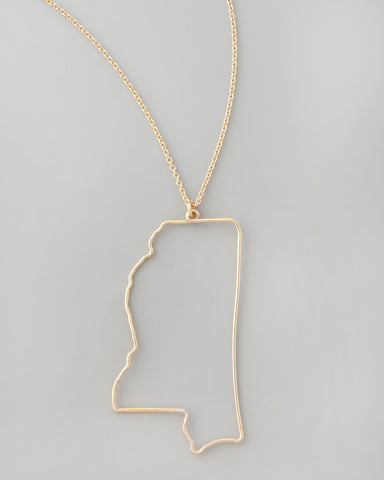 Gauge NYC Mississippi Pendant Necklace