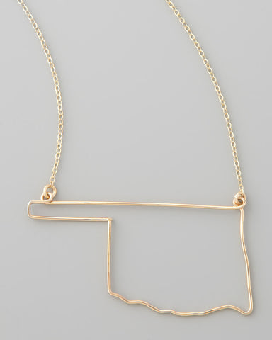 Gauge NYC Oklahoma Pendant Necklace