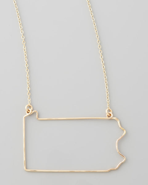 Gauge NYC Pennsylvania Pendant Necklace