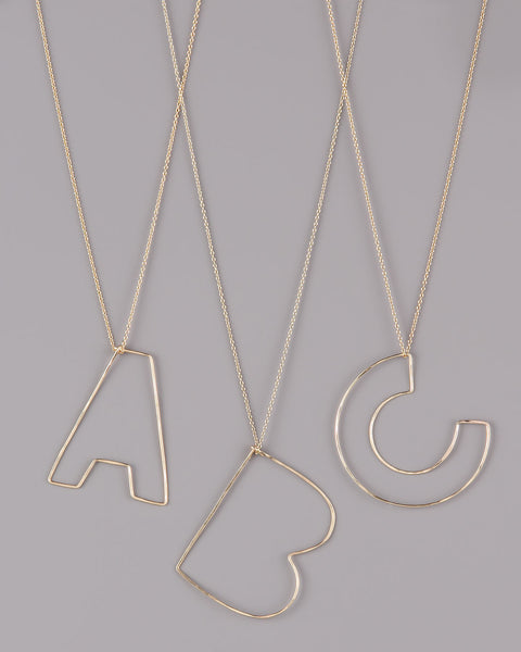 Gauge NYC Letter Pendant Necklace