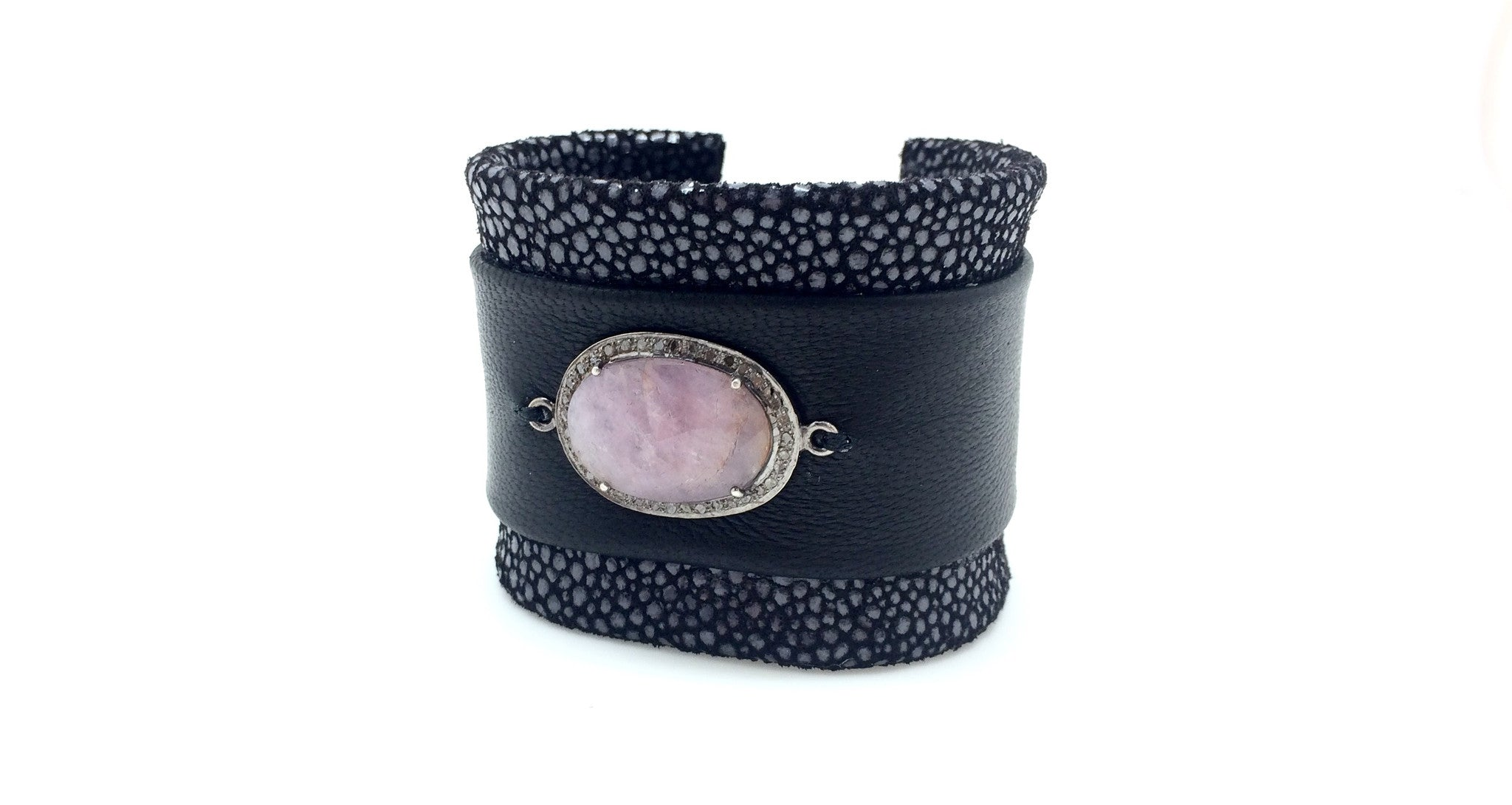 Pink Sapphire and Diamond Stingray Bracelet