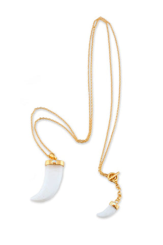 White Gold Horn Necklace
