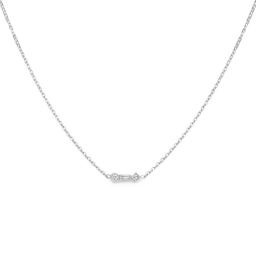 3-Stone Diamond Pendant Necklace