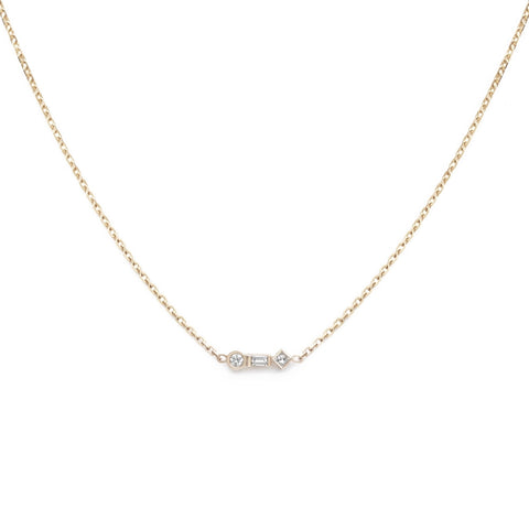 3-Stone Diamond Lariat Necklace