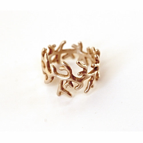 14k Gold Coral Ring
