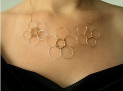 Anne Woodman Triple Flower Necklace