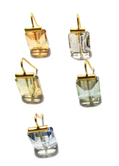 Catherine Canino 18k Gold Faceted Swarovski Crystal Earrings