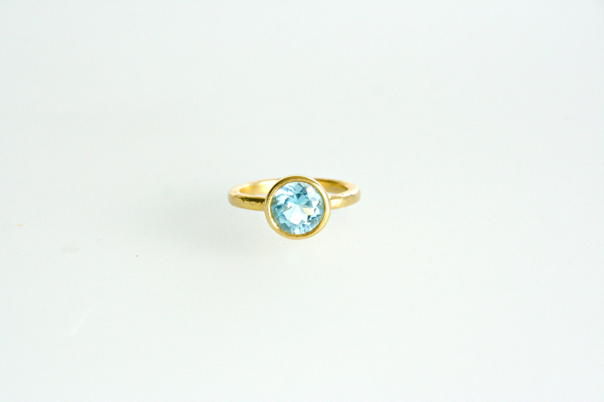 Carolina Loyola Blue Topaz Stacking Ring