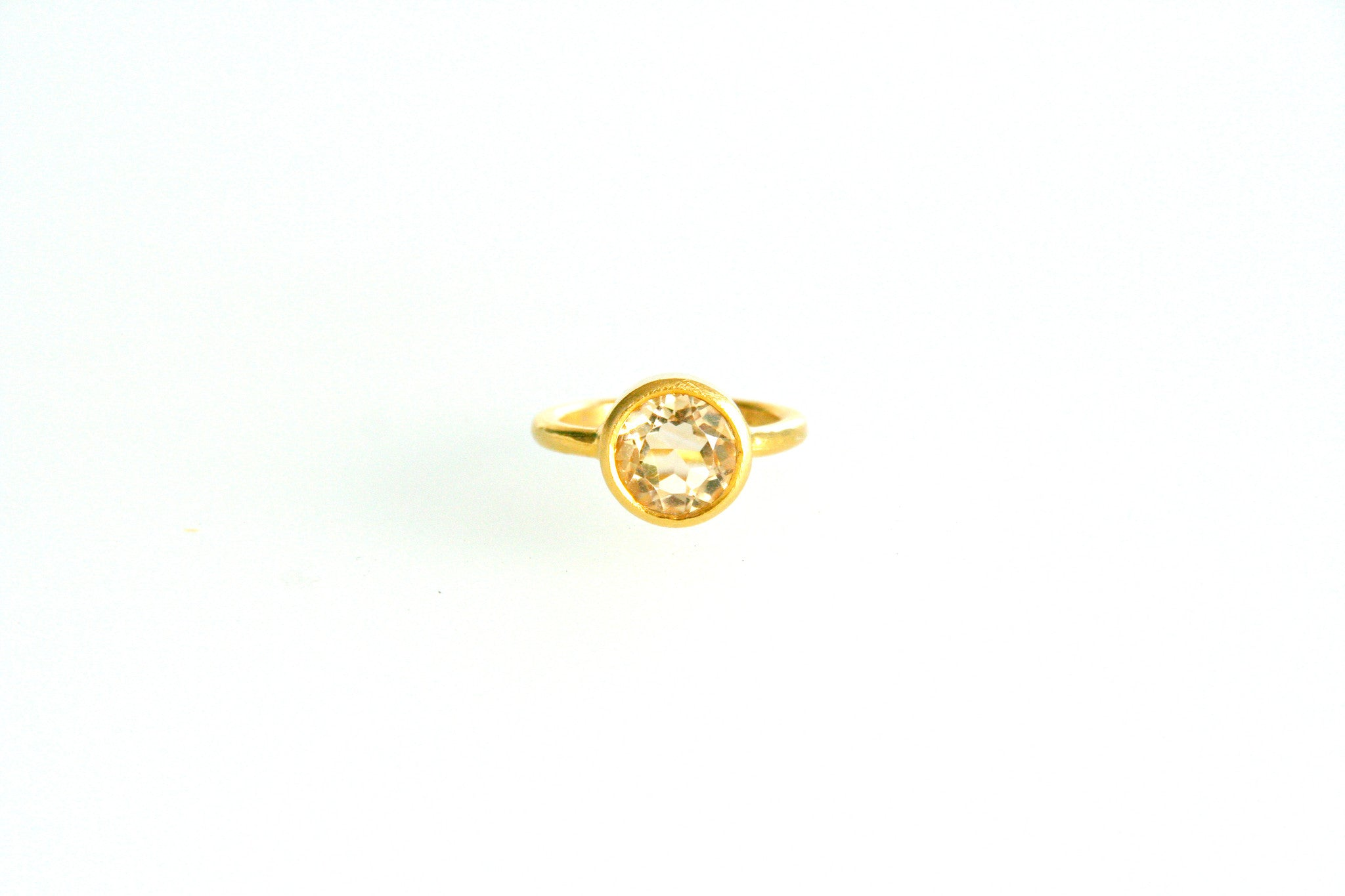 Carolina Loyola Citrine Stacking Ring
