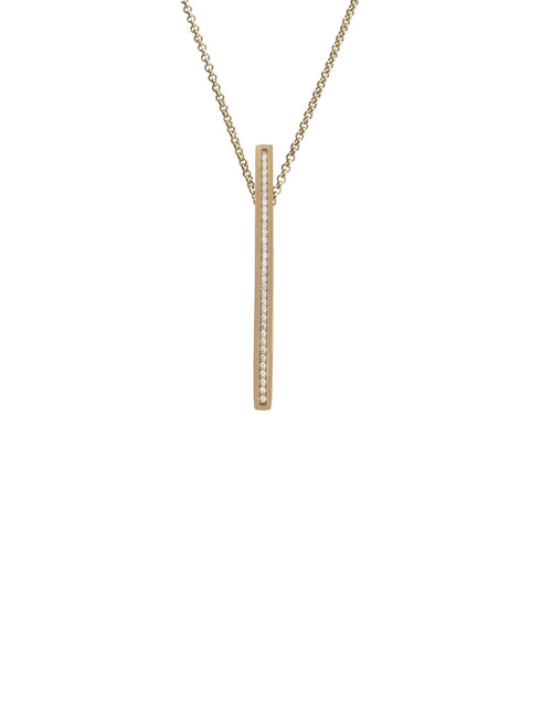 Gold Vertical Bar Necklace