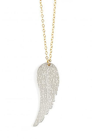 Angel Wing Inspirational Necklace