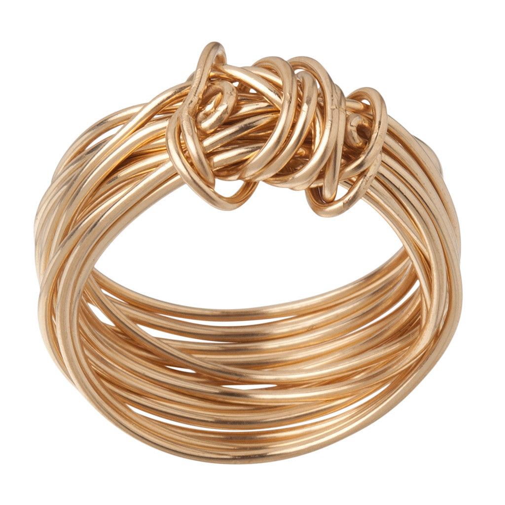 Gold Wire Wrapped Ring - Size 7