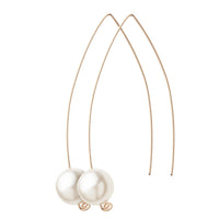 Wishbone Pearl Bead Earrings